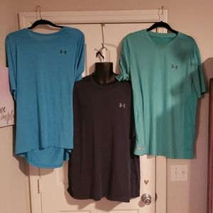 Lot of 3 Under Armour Shirts Size XXL 2XL